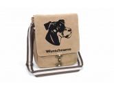 Bekleidung & AccessoiresHundesportwesten mit Hundemotiven inkl. Rückentasche MIL-TEC ®Deutscher Jagdterrier Canvas Schultertasche Tasche mit Hundemotiv und Namen