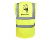 Leben & WohnenTeelichthalterFlat Coated Retriever - Hundesport Warnweste Sicherheitsweste mit Hundemotiv