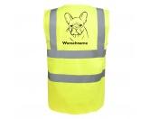 Taschen & RucksäckeBaumwolltaschenFranzösische Bulldogge 6 - Hundesport Warnweste Sicherheitsweste mit Hundemotiv