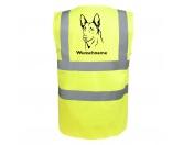 Aufkleber & TafelnHolländischer Schäferhund - Hundesport Warnweste Sicherheitsweste mit Hundemotiv