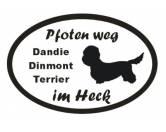 Schmuck & AccessoiresVersilberte AnhängerPfoten Weg - Aufkleber: Dandie Dinmont Terrier