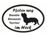 Schmuck & AccessoiresMetall-Hundekopf PinsPfoten Weg - Aufkleber: Dandie Dinmont Terrier 2