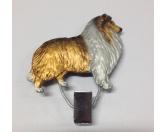 Schmuck & AccessoiresMetall-Hundekopf PinsHundeausstellungs-Startnummern-Clip: Collie