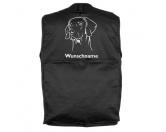 Tierische-FigurenVersilberte Hunde-FigurenWeimaraner 4 - Hundesportweste mit Rückentasche MIL-TEC ®