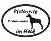 Schmuck & AccessoiresVergoldete AnhängerPfoten Weg - Aufkleber: Dobermann 13