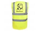 Tierische-FigurenVersilberte Hunde-FigurenLabrador - Hundesport Warnweste Sicherheitsweste mit Hundemotiv