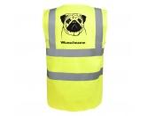 Für MenschenWeihnachtsmarktMops - Hundesport Warnweste Sicherheitsweste mit Hundemotiv