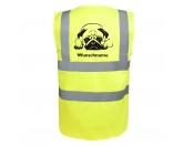 AusstellungszubehörHunderassen Ringclips vergoldetMops liegend - Hundesport Warnweste Sicherheitsweste mit Hundemotiv