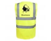 RestpostenMops 1 - Hundesport Warnweste Sicherheitsweste mit Hundemotiv