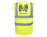 AusstellungszubehörHunderassen Ringclips vergoldetPapillon 2 - Hundesport Warnweste Sicherheitsweste mit Hundemotiv