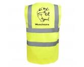 AusstellungszubehörHunderassen Ringclips vergoldetPomeraner - Hundesport Warnweste Sicherheitsweste mit Hundemotiv