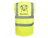 AusstellungszubehörHunderassen Ringclips vergoldetRhodesian Ridgeback 2 - Hundesport Warnweste Sicherheitsweste mit Hundemotiv