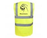 Aufkleber & TafelnHund Inside Auto AufkleberRiesenschnauzer 2 - Hundesport Warnweste Sicherheitsweste mit Hundemotiv