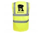 Für TiereFutterplatz-Matten & UnterlagenRottweiler 1 - Hundesport Warnweste Sicherheitsweste mit Hundemotiv