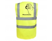 Tierische-FigurenVersilberte Hunde-FigurenShar Pei - Hundesport Warnweste Sicherheitsweste mit Hundemotiv