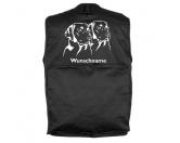 Tierische-FigurenVersilberte Hunde-FigurenLabrador 2 Köpfe - Hundesportweste mit Rückentasche MIL-TEC ®