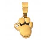 Für TiereKühlartikel für HundeEnergy and Life Magnetschmuck - Anhänger Pfote klein -Zirkonia- gold