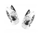 Für TiereDummies & ApportierhilfenEnergy and Life Magnetschmuck - Ohrringe Pfötchen Linie -Zirkonia- glänzend