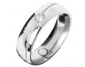 Für TiereHundepfeifen - HandarbeitEnergy and Life Magnetschmuck - Ring Pfötchen Linie -Zirkonia- glänzend