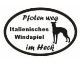 Schmuck & AccessoiresMetall-Hundekopf PinsPfoten Weg - Aufkleber: Italienisches Windspiel