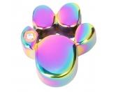 Für TiereSpielzeuge für HundeEnergy and Life Magnetschmuck - Anhänger Pfote -Zirkonia- rainbow