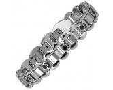 Für TiereKühlartikel für HundeEnergy and Life Magnetschmuck - Armband 4in1 schwarze Pfötchen -matt-