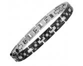 Bekleidung & AccessoiresHausschuhe & PantoffelnEnergy and Life Magnetschmuck - Armband Pfote - Pfötchen Linie schwarz 4in1 -Zirkonia-