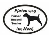 Für MenschenAuto-SonnenschutzPfoten Weg - Aufkleber: Parson Russell Terrier 3