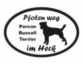 Für MenschenAuto-SonnenschutzPfoten Weg - Aufkleber: Parson Russell Terrier 4