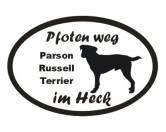 Für MenschenAuto-SonnenschutzPfoten Weg - Aufkleber: Parson Russell Terrier 5