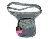Für TiereHundemotiv - HandtücherNijens Hüfttasche - Bauchtasche Pfote -grau schwarz-