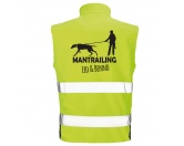 Hundesport Safety Softshell Warnweste Sicherheitsweste: Mantrailing 8