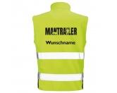 Bekleidung & AccessoiresHundesportwesten mit Hundesprüchen inkl. Rückentasche MIL-TEC ®Hundesport Safety Softshell Warnweste Sicherheitsweste: Mantrailing