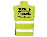Bekleidung & AccessoiresWarnwesten & SicherheitswestenHundesport Safety Softshell Warnweste Sicherheitsweste: Mantrailing 1