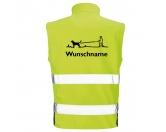 Bekleidung & AccessoiresSoftshell Fleece Warnwesten & SicherheitswestenHundesport Safety Softshell Warnweste Sicherheitsweste: Gassigeher