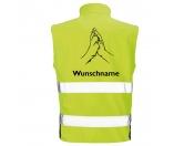 Bekleidung & AccessoiresSoftshell Fleece Warnwesten & SicherheitswestenHundesport Safety Softshell Warnweste Sicherheitsweste: Hand & Pfote