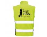 Bekleidung & AccessoiresHundesportwesten mit Hundesprüchen inkl. Rückentasche MIL-TEC ®Hundesport Safety Softshell Warnweste Sicherheitsweste: Never walk alone 2