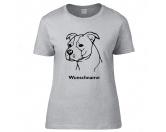 Schmuck & AccessoiresVersilberte AnhängerAmerican Staffordshire Terrier unkupiert - Hunderasse T-Shirt