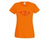 Für TiereLeckerlies & HundekekseHunderasse Damen T-Shirt - Hundenase 2 -Orange-