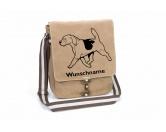 Leben & WohnenGarderoben & SchlüsselboardsBeagle 7 Canvas Schultertasche Tasche mit Hundemotiv und Namen
