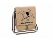 SoftshelljackenSoftshell-Jacke HundemotivBeagle 7 Canvas Schultertasche Tasche mit Hundemotiv und Namen