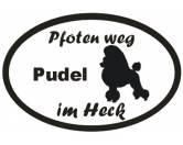 Schmuck & AccessoiresHunderassen-Broschen versilbert/vergoldetPfoten Weg - Aufkleber: Pudel 2