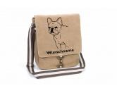 Bekleidung & AccessoiresHundesportwesten mit Hundemotiven inkl. Rückentasche MIL-TEC ®Französische Bulldogge 1 Canvas Schultertasche Tasche mit Hundemotiv und Namen