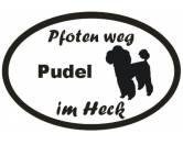 Schmuck & AccessoiresHunderassen-Broschen versilbert/vergoldetPfoten Weg - Aufkleber: Pudel 11