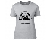 Für MenschenWeihnachtsmarktMops liegend - Hunderasse T-Shirt