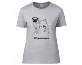 Für Menschen% SALE %Mops stehend - Hunderasse T-Shirt