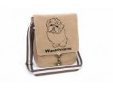 RucksäckeCanvas Rucksack HunderassenShih Tzu 2 Canvas Schultertasche Tasche mit Hundemotiv und Namen
