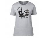Bekleidung & AccessoiresStrickfleecejackenHundesport T-Shirt Damen -Abstand halten-