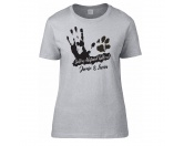 Backformen & ZubehörVerpackungenHundesport T-Shirt Damen -Abstand halten-