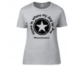 Bekleidung & AccessoiresHausschuhe & PantoffelnHundesport T-Shirt -Home is where my dog is-